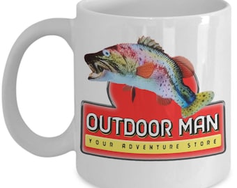 Outdoor Man Your Adventure Store Break Room Inspired Coffee Mug. White Mug TV Show Funny Sporting Goods Store Fishing  Mike Baxter