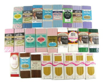 Bias Tape 25 Packages of Vintage Sewing Trim
