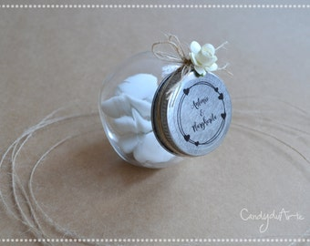 Transparent stickers for wedding favors-clear label-stickers
