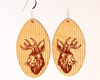 Jackalope Earrings