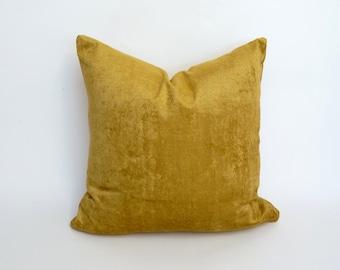 gold velvet pillow case // gold crushed velvet cushion case // gold velvet pillow // crushed velvet