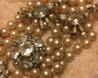 LOT Vintage costume jewelry  pearls and rhinestones