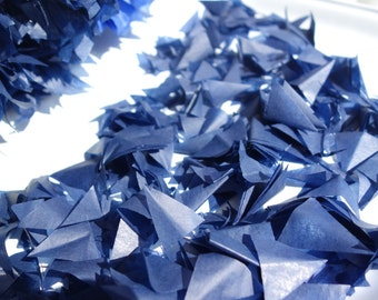 PUFFetti Triangle Scrap Handmade Recycled Confetti Birthday 2 Favor Bag Samples - Midnight Blue Starry Night Hanukkah Wedding Party Theme