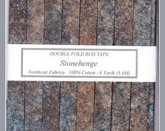 Handmade Double Fold Bias Tape - Stonehenge