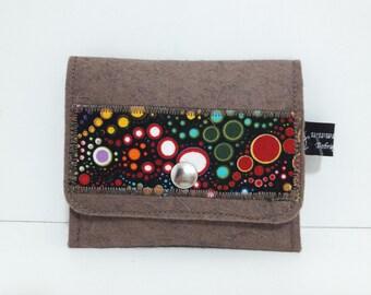 Extra flat, unique wool felt coin purse.