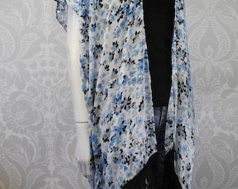 Floral print Kimono with Fringe - 4 options