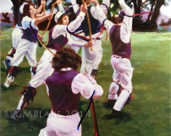 The Grove: Morris dance - original art