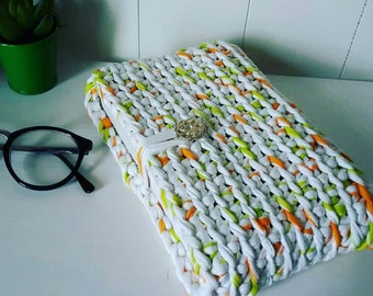 Protects book, violet and orange lime green white color