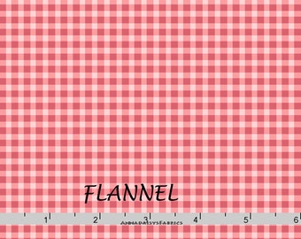 Pink Gingham Check Flannel, Maywood Beautiful Basics & Welcome Home MASF 610 PP, Tone on Tone Pink Check Cotton Flannel Yardage