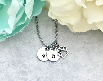 Dog Mom Gift - Paw Print Necklace - Dog Paw Necklace - Personalized Pet Necklace - Mothers Day Gift for Dog Mom - Dog Mom Jewery