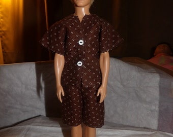 Short pajamas pants and top or short set for Male Fashion Dolls - kdc39