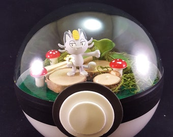 Aololan Meowth Pokemon Diorama (Paradise Ball)
