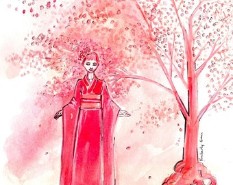 Pink Kimono Print, Print, Kimono Art, Kimono Print, Pink Kimono Art, Pink Kimono Art Print, Pink Kimono Print, Kimono Print,Pink Kimono