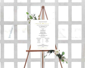 Ceremony Sign- Wedding Program Sign- Aisle Decor- Wedding Schedule Sign- Aisle Signs- Wedding Ceremony Decor- Rustic Wedding Decor-