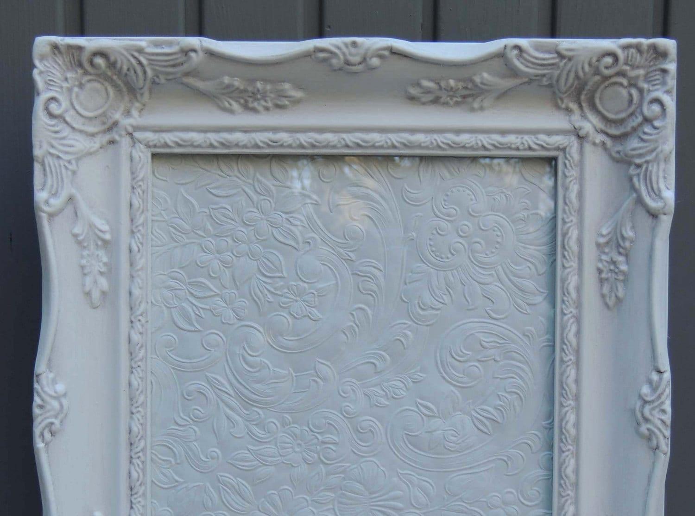 8 x 10 blanco Marcos, marco con cristal y caballete trasero, marco ...