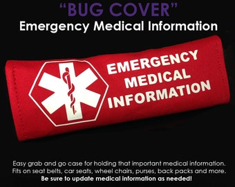Emergency Information Bug Cover - NEW AND IMPROVED