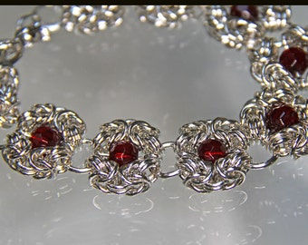 Romanov Sterling Chainmaille Bracelet