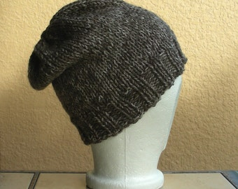 Slouch Hat, Tam, Beanie, Beret, Stocking Cap Taupe, Beige, Grey, Gray. A stocking cap that's a slouch hat!
