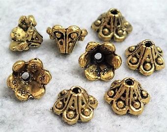 Assorted Antique Golden Bead Cap