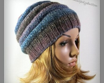 Womens Knit hat - beehive hat - hand knit winter hat - knitwear for women - gift for her