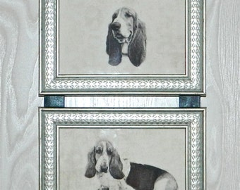 Basset Hound Dog Picture Frame Collage Wall Hanging Art