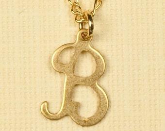 Vintage Letter Inicial Necklace B