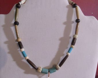 Obsidian Arrowhead Necklace, Carvedbone and Turquoise, Native American Inspired Arrowhead Necklace