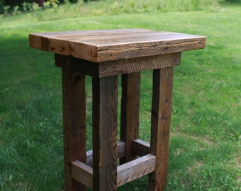 Barn Wood Pub Table   Farmhouse Style Furniture   FREE SHIPPING In The USA