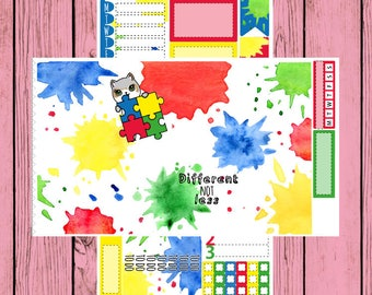 Different NOT Less - Autism Awareness - Itty Bitty Kitty - Autism Mauly - 2 page mini kit
