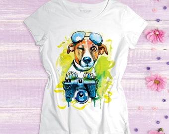 Jack Russell Terrier shirt JRT Dog lover gift Jack Russell t-shirt Jack Russell art Jack Russell dog Jack Russell image Jack Russell picture