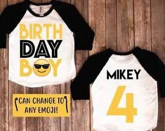 Emoji birthday shirt, emoji birthday, emoji shirt, emoji birthday party, emoji party, boys birthday, boys birthday shirt, boys party