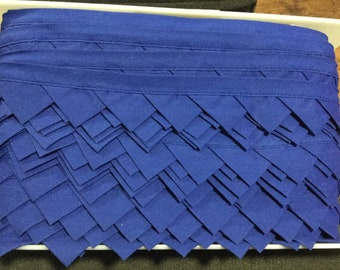 Prairie Points Royal Blue Trim 1 3/4 Inch