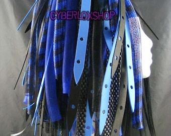 Cyberlox Dread Goth Blue Black BlueWeb Hair Falls