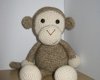 Handmade, Crochet Toy, Soft Toy, Stuffed Animal, Amigurumi Monkey - Beejay