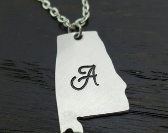 State pendants etsy custom state pendant necklace home is where the heart is long distance gifts aloadofball Gallery