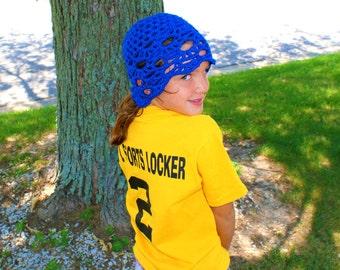 Blue Beanie, Womens Crochet Hat, Blue Skull Cap, Teens Hipster Beanie, Lacy Blue Rasta, Flapper Style Cloche, Spring Fashion Hat