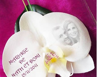 ivory or white Orchid boutonniere to customize