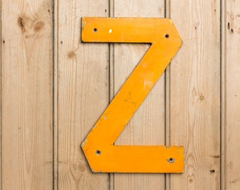 Vintage Letter Z, Capital letter Z, Name, names, home decor, wall art, Zzzzzzzz, bedroom letters, Zhan, Zak, Initial Z, Shop Signage