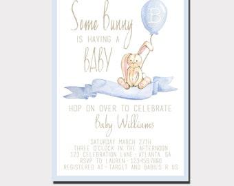 Bunny Baby Shower Invitation | Woodland Baby Shower | Boy Baby Shower | Girl baby Shower