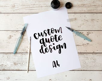 Custom quote design, Custom Wall Decor, Your Words Here, Custom Quote Print, Custom Text, Custom Wall Sign, Personalised Poster, Quote, Sign