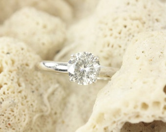 1.0cts Diamond Engagement Ring, Platinum Solitaire Engagement Ring, Engagement Ring, Classic Engagement Ring, Platinum & Gold Ring