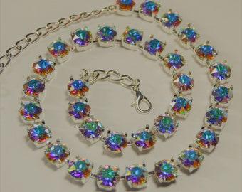 Crystal Aurora Borealis Swarovski Crystal Necklace