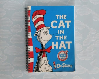 The cat in the hat notebook - Dr Sueuss journal - repurposed planner
