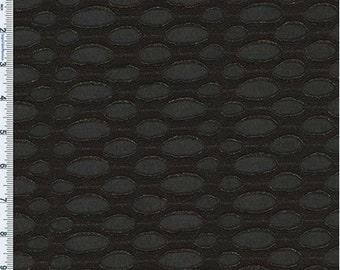 Black/Gold Textured Foil Novelty Knit, Fabric By The Yard