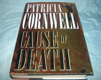 Book, Patricia Cornwell, Cause of Death, 1996, HCDJ