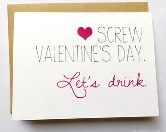 Galentine's Day - Friend Valentine's Day Card - Best Friend Valentine - Funny Valentine