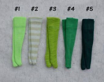 Green Over the Knee Blythe Doll Socks