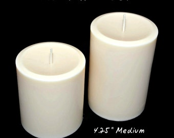 All Natural Vegan Soy Pillar Candle Set, Scented or Unscented