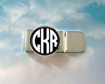 Custom Monogram Money Clip -  Personalized for Dad or Wedding -  Men's Keepsake - Father's Day Gift, Initials, Letters