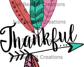 Thankful Die Cut File SVG